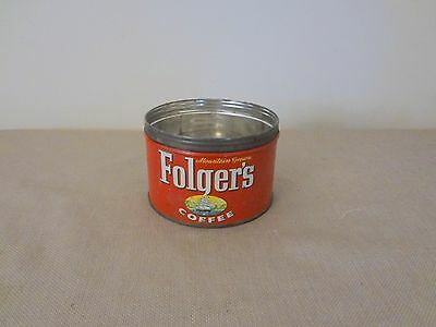 Old Antique Folger's Metal Can Dated 1959 - Has Ship Logo J.A.F. & Co.