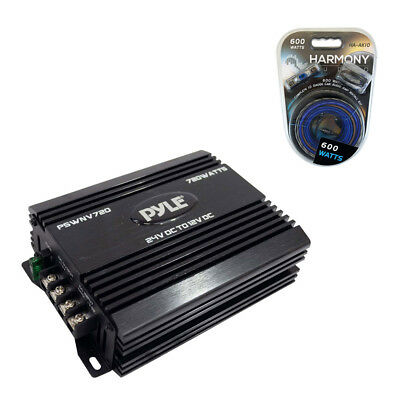 Pyle Car Stereo PSWNV720 24V Dc To 12V Dc Power Step Down Converter 720W Amp Kit