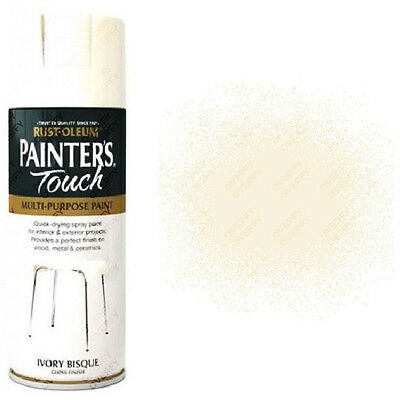 x1 Rust-Oleum Painters Touch Multi-Purpose Spray Paint Ivory Bisque White Gloss