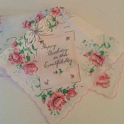 New Happy Birthday Handkerchief ~ Elegant Birthday Hankie!