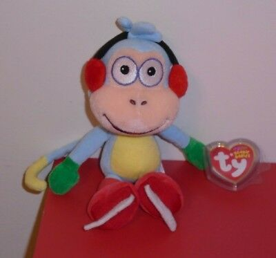 Ty Beanie Baby - BOOTS the Monkey (Ice Skating ~ Dora the Explorer) 8 inch ~MWMT