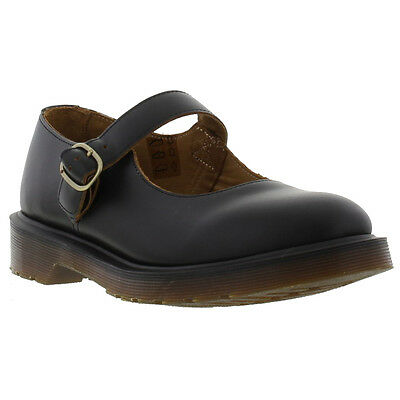 New Dr Martens Indica Womens Black Leather Mary Jane Shoes Size UK 4-8