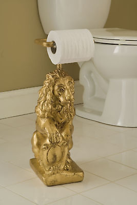 Hickory Manor House Lion Free Standing Toilet Paper Holder