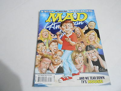 FEB 2006 MAD -- humor comic magazine AMERICAN IDOL