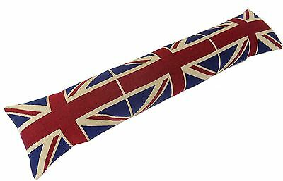 Evans Lichfield Union Jack Red Blue Flag Draught Excluder Cotton 90 X 22 X 12Cm