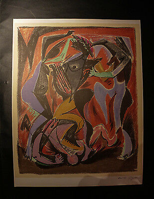 Andre Masson (1896-1987) Orpheus, Original Farblithographie in 15 Farben