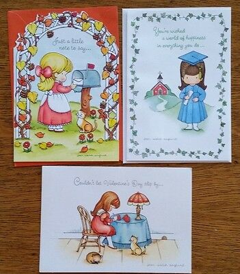 3 Vintage Unused Hallmark Joan Walsh Anglund Cards