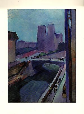 """1973 Vintage MATISSE """"NOTRE DAME IN THE LATE AFTERNOON"""" COLOR offset Lithograph"""