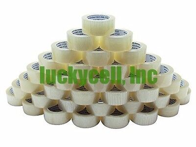 """72 Rolls Box Carton Sealing Packing Packaging Tape 2""""x110 Yards (330' ft) Clear"""