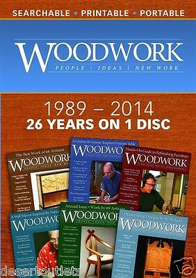 NEW! Woodwork Magazine 1989 - 2014 26 Years on One Disc [DVD]