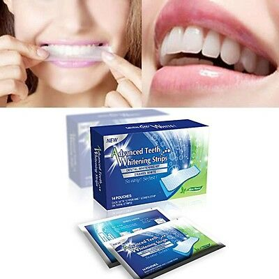 +14 x 3D PROFESSIONAL TEETH WHITENING POUCHES +2 WEEK COURSE 28 STRIPS++