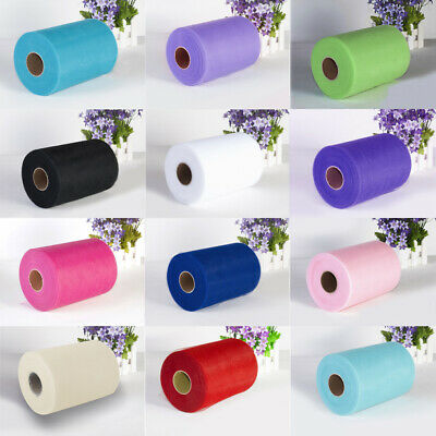 6 Inch Tulle 100 Yards Tutu Roll Soft Nylon Netting Craft Fabric Wedding Décor