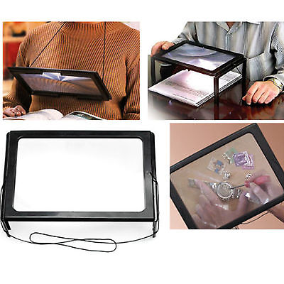 Giant Large Hands Free Magnifying Glass With Ligh Led Magnifier For Reading Aid