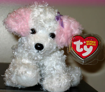 Ty Beanie Baby ~ SUGARPUP the Pink & White Dog ~ MINT with MINT TAGS ~ RETIRED