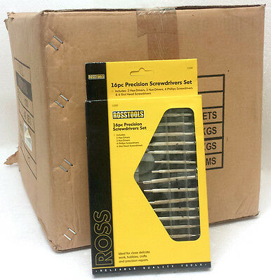 Wholesale Carton Of 48 RossTools 16pc Precision Screwdrivers Set