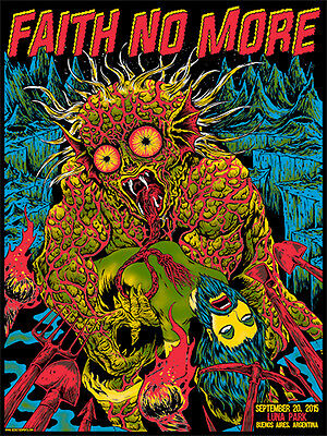 FAITH NO MORE poster Buenos Aires 2015 by Skinner