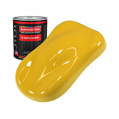 Canary Yellow 1 Quart ACRYLIC LACQUER Car Auto Body Paint