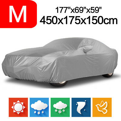 Car Cover Outdoor Waterproof Snow Sun Dust Proof Breathable Protection M Size