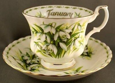 Royal Albert Flower of the Month Series Snowdrops January Cup & Saucer