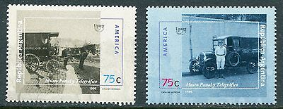 Argentina 1995 Early Postal Vehicles - Horse Set Mint Never Hinged Complete!