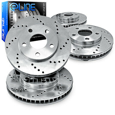 For 1994-1998 Nissan Maxima Front Rear eLine Drilled Brake Rotors