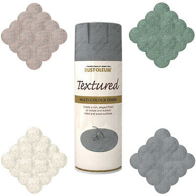 Rust-Oleum Stone Textured Spray Paint Granite Pebble Black Green Bleached Grey