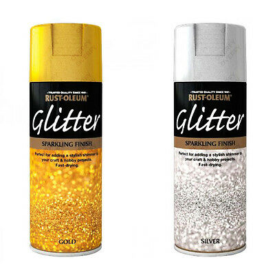 Rust-Oleum Sparkling Glitter Aerosol Spray Paint Gold, Silver Clear Sealant