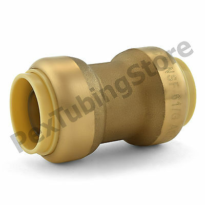 "(10) 3/4"" Sharkbite Style (Push-Fit) Lead-Free Brass Couplings Fittings"