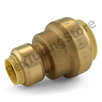 "(10) 1"" x 1/2"" Sharkbite Style (Push-Fit) Push to Connect LF Brass Couplings"