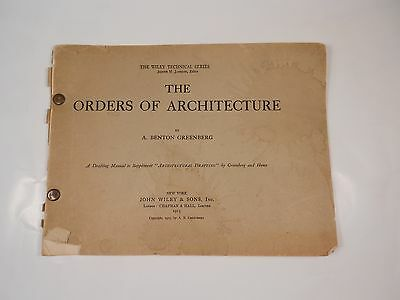 Vintage Orders Of Architecture Drafting Manual Supplement 1915 Drafting