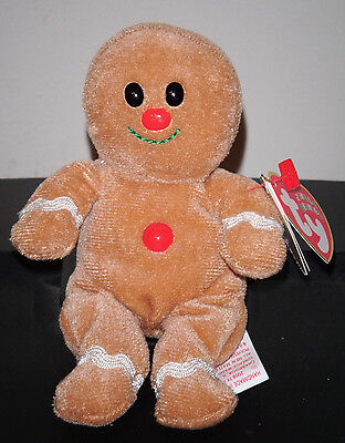 """Ty Jingle Beanie Baby ~ SWEETER (4.5"""") Gingerbread Man (Walgreens Excl) ~ MWMT'S"""