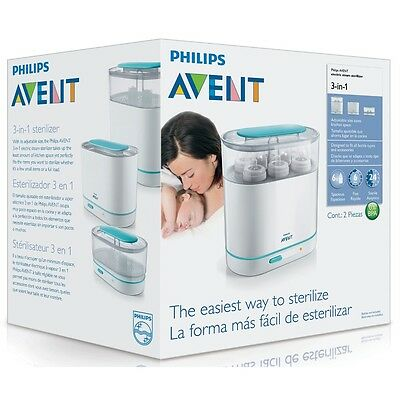 Philips AVENT 3-in-1 Electric SCF284/01 Steam Steriliser Baby Bottle