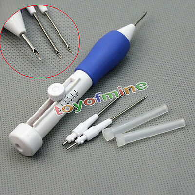 Three Sized Embroidery Stitching Punch Needle Craft Tool Kit 2 Threader