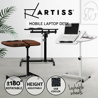 Mobile Laptop Desk Adjustable Notebook Computer iPad PC Stand Bedside Table