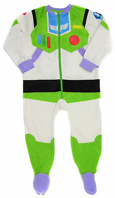 Boys Buzz LightYear Dress Up Fleece All In One Sleepsuit Pyjama 3-4y 4-y  5-6y