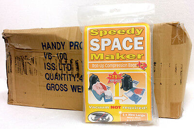 Wholesale Box Of 40 Pairs of Speedy Space Makers Roll Up Compression Bags 2 Size