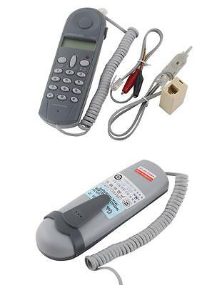 Telephone Phone Line Network Cable Tester Butt Test Tester Lineman Tool Cable