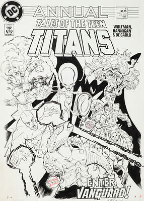 Tales Of The Teen Titans Annual 4 Cover Art - Hannigan / Decarlo