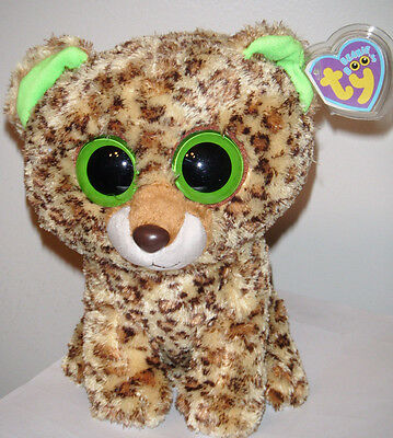 """Ty Beanie Boos - SPECKLES the 9"""" Leopard - MEDIUM with MINT TAGS (PLEASE READ)"""