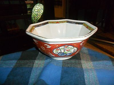 Vintage TAKAKASHI 8 Sided Porcelain Bowl Made In Japan
