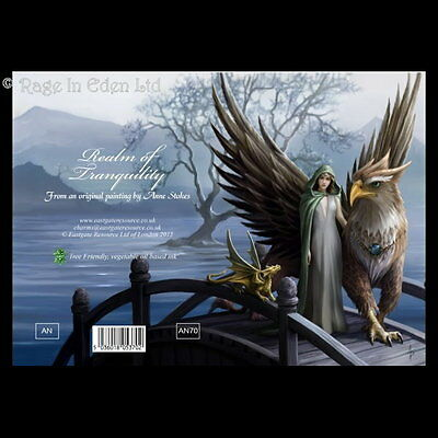 REALM OF TRANQUILITY Anne Stokes Fantasy Griffin Art Blank Greeting Card (AN70)