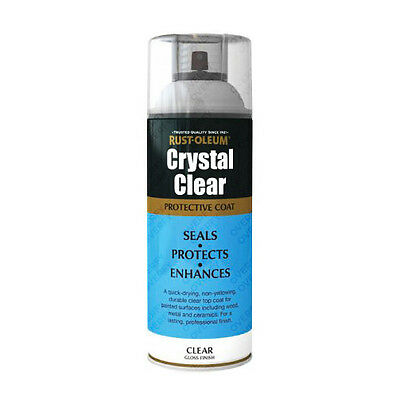 x2 Rust-Oleum Crystal Clear Multi-Purpose Spray Paint Lacquer Top Coat Gloss