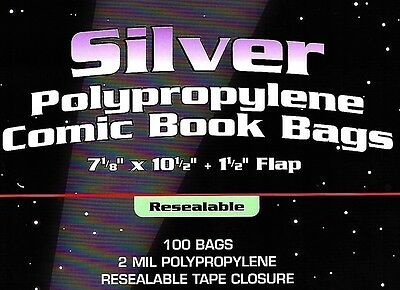 500 BCW Silver Resealable Bags and Boards  Archival Comic Book Storage