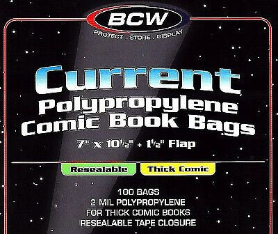500 Current Resealable Thick Bags and Boards Archival Book Storage Supplies BCW