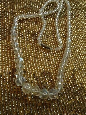 Antique Rock Crystal Beads Victorian Late 1800S Scarce Beautiful