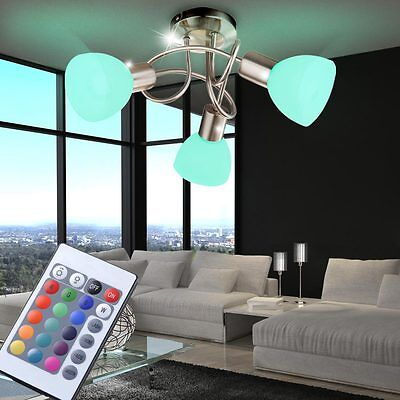 rgb led deckenlampe dimmbar deckenleuchte esszimmer k che bad fernbedienung neu eur 50 85. Black Bedroom Furniture Sets. Home Design Ideas