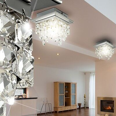 Led design luxus decken leuchte bad flur lüster licht glas ...