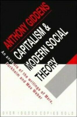 Capitalism and Modern Social Theory: An Analysi... by Giddens, Anthony Paperback