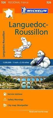 Michelin Regional Maps: France: Languedoc-Roussillon Map 526 by Michelin Travel