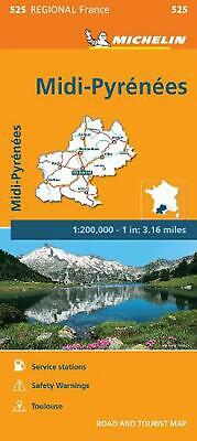 Michelin Regional Maps: France: MIDI-Pyrenees Map 525 by Michelin Travel & Lifes